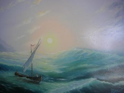 Картина «Моряки и море»