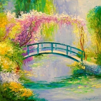 Картина «Мост у пруда Моне»