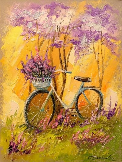 Картина маслом «Мой велосипед» - современная живопись Украина