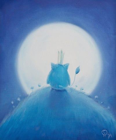 Картина для детской комнаты «Моя луна» купить картину маслом Киев