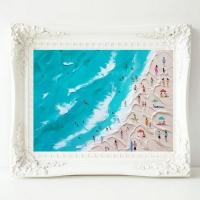 Картина маслом морской пейзаж «Море. Солнце. Жара» купить живопись для современных интерьеров Киев