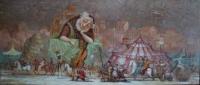 Картина маслом сюжетная композиция «Музыка жизни» купить живопись для современных интерьеров Украина