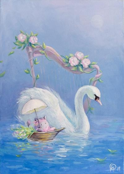 Картина для детской комнаты «Музыка озер» купить картину маслом Киев