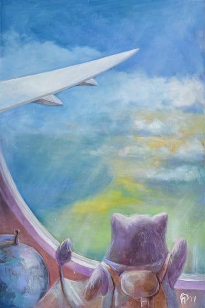 Картина для детской комнаты «Над океаном» купить картину маслом Киев