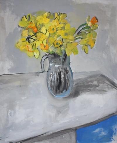 Картина для современных интерьеров цветы «Нарциссы» купить живопись Украина
