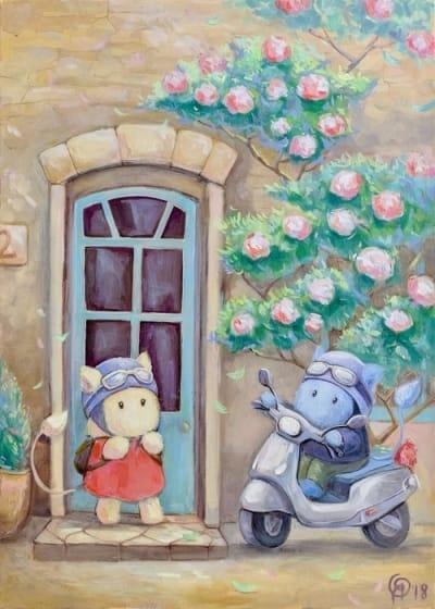 Картина для детской комнаты «Наши весенние каникулы» купить картину маслом Киев
