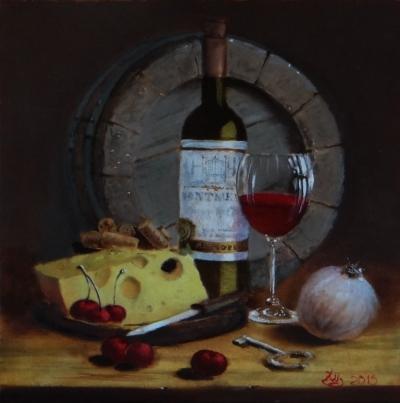 Картина «Натюрморт с бокалом» - купить живопись для современных интерьеров Украина