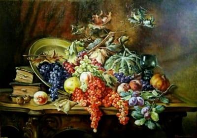 Картина «Натюрморт с фруктами» копия Хоенберга Франца купить  картину для современных интерьеров Украина натюрморт