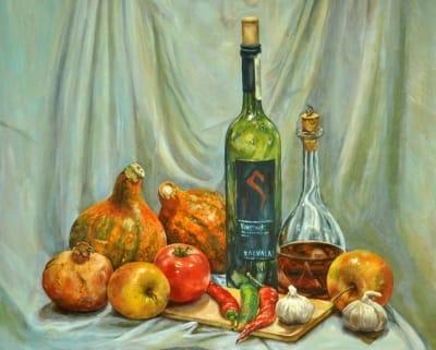 Картина «Натюрморт с тыквами»