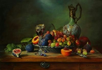 Картина «Натюрморт, выполненный в технике старых мастеров»