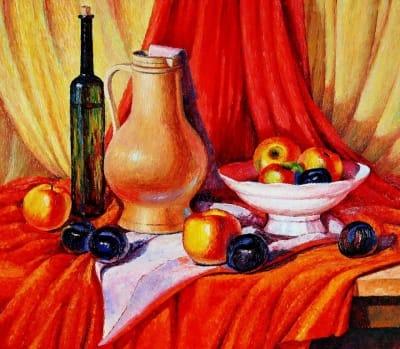 Картина «Натюрморт на красном»