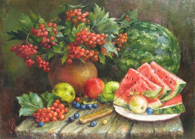 Картина «Натюрморт с арбузом»