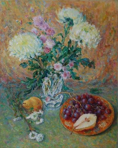 Картина «Натюрморт с хризантемами»