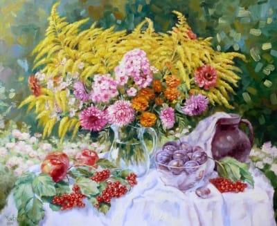 Картина «Натюрморт с калиной»