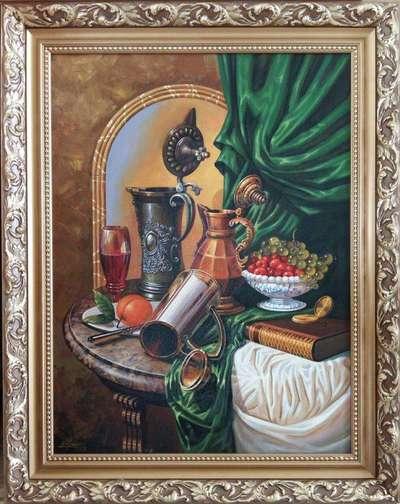 Картина «Натюрморт с кувшинами» в раме