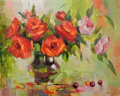 Картина «Натюрморт с розами»