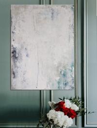 Картина абстракция «Нейтральное настроение» (вторая из сета) купить живопись для современных интерьеров Украина Киев