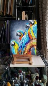 Картина птицы «Небольшой отдых» - картины для современных интерьеров Киев