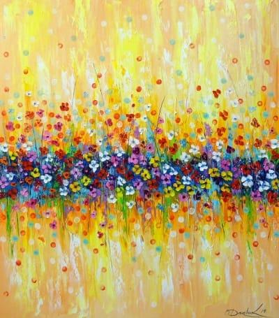 Картина маслом «Нежные цветы» купить живопись для современных интерьеров Украина