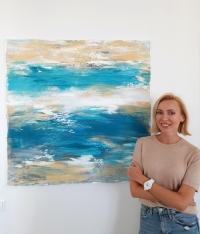 Картина абстракция для современного интерьера «Nice» купить живопись Киев