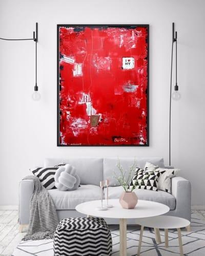 Картина абстракция для современных интерьеров «Нью Йорк» купить живопись Киев Украина