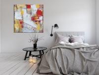 Картина абстракция для современных интерьеров «Нью Йорк» купить живопись Киев