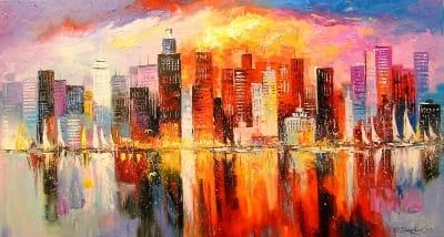 Картина «Ночной город»