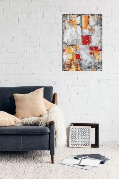 Картина абстракция для современного интерьера «Нью Йорк» купить живопись Украина