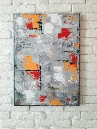 Картина абстракция для современного интерьера «Нью Йорк» купить живопись Киев