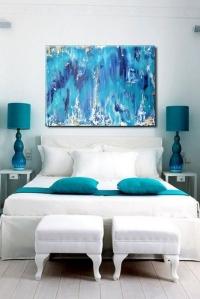 Картина абстракция для современного интерьера «Ocean» купить живопись Киев