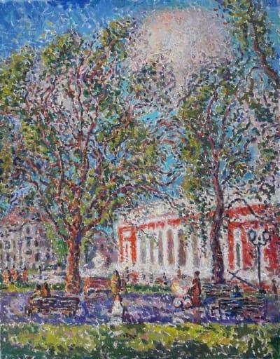 Картина городской пейзаж «Одесский мотив» купить живопись для современных интерьеров Украина