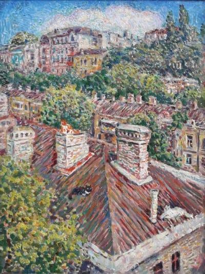 Картина городской пейзаж «Одесские крыши» купить живопись для современных интерьеров Украина