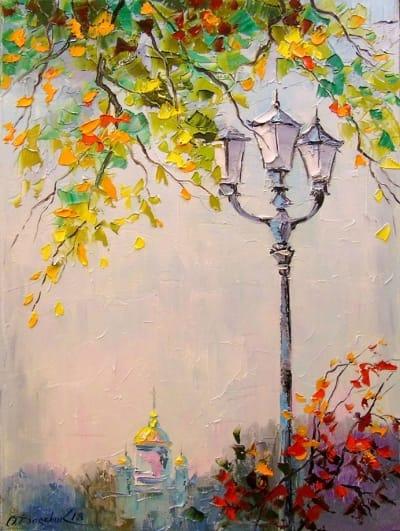 Картина «Одинокий фонарь»