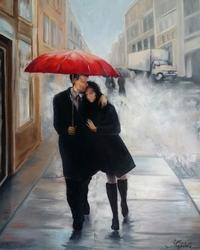 Картина «Любовь в большом городе» по мотивам