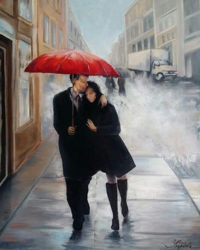 Картина на тему Нью-Йорк «Любовь в большом городе» по мотивам