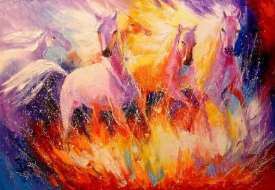 Картина «Огненная лошадь»