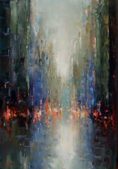 Картина «Огни ночного города»