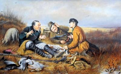 Картина «Охотники на привале» 2 копия Перова