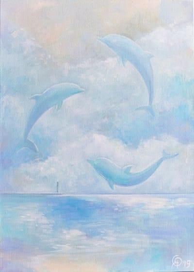 Картина пейзаж море «Океанские волны» купить картину маслом Киев