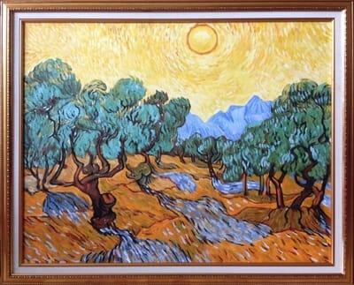 Картина «Оливковая роща», копия картины Ван Гога