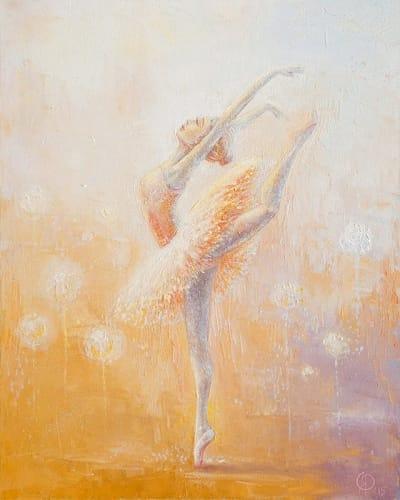 Картина для детской комнаты «Балерина» купить картину маслом Киев