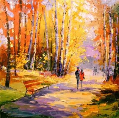 Картина «Осенняя прогулка»
