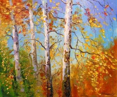 Картина «Осенние березы»