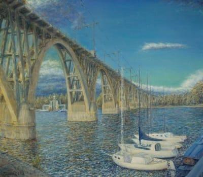 Картина «Осенний мост»