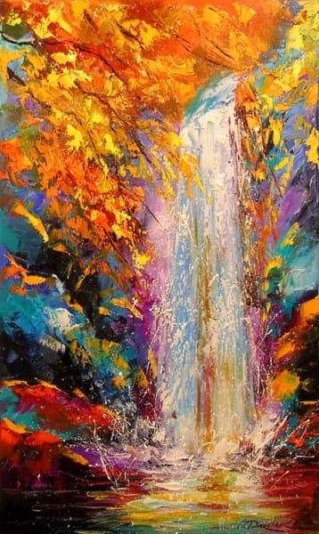 Картина «Осенний водопад»