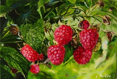 Картина «Осы в малиннике» - купить живопись для современных интерьеров Украина