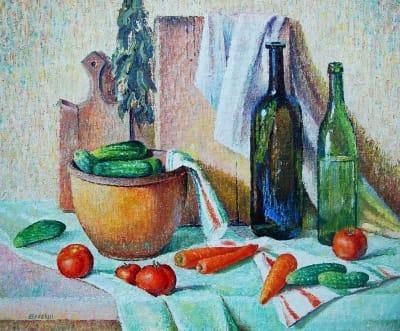 Картина «Натюрморт с овощами»