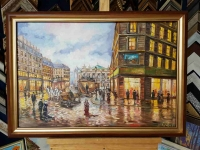 Картина «Как прекрасен вечерний Париж» в раме