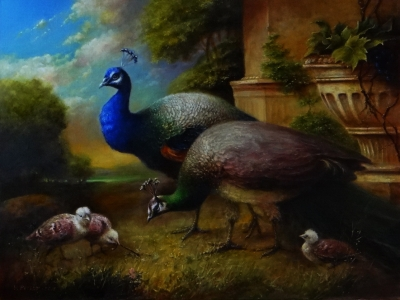 Картина «Семейка павлинов» (по мотивам Севрюкова)