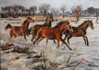 Картина «Перегонки с ветром» купить живопись Украина